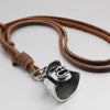 Japanese Samurai Leather Necklace