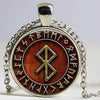 Viking Peace Rune in Runic Circle pendant