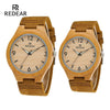 Lover's Watches - Classic Wooden Watches With Night Light Pointer Real Leather for women Unisex in Gift Box