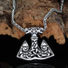 Viking necklace wolf axe