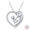 925 Sterling Silver Love Heart Mom