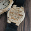 WOODEN WATCH - TO MY GRANDSON - YOU WILL ALWAYS BE MY SWEET BABY BOY 2