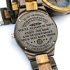 WOODEN WATCH - TO MY GRANDSON -LOVE, GRANDPA