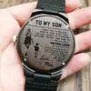 Family WOODEN WATCH - TO MY SON, LOVE mom