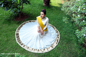 Crown Jewel - Ivory/Gold Anarkali