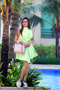 Structured Green Bow Dress