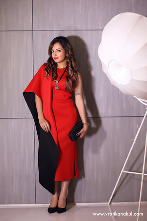 Red or Black , The Cocktail Dress - Western - vratikanakul.com