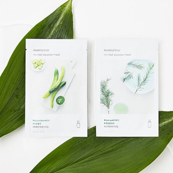 Korean skincare Innisfree My Real Squeeze Mask