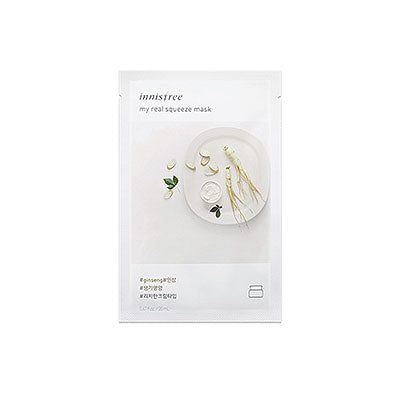 Innisfree My Real Squeeze Mask - Ginseng Korean skincare