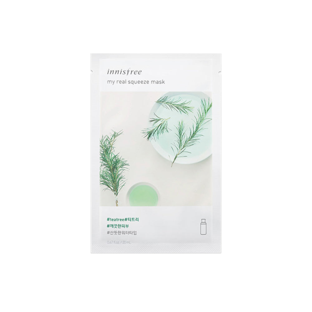 Korean skincare Innisfree My Real Squeeze Mask Tea Tree