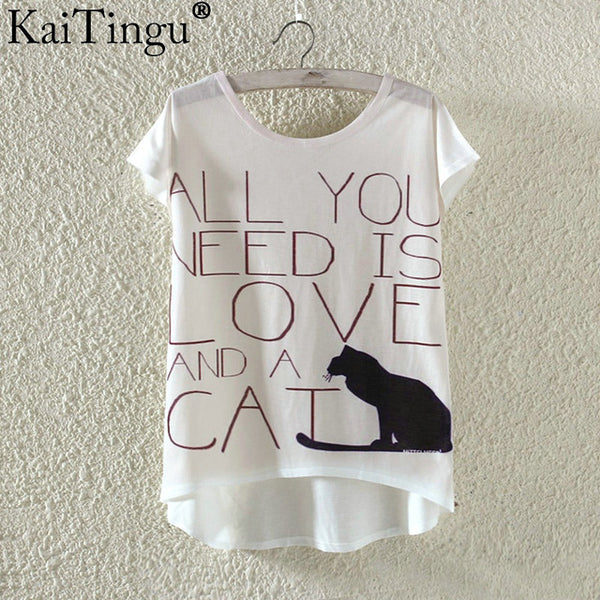 """All you need is a cat "" t-shirt"