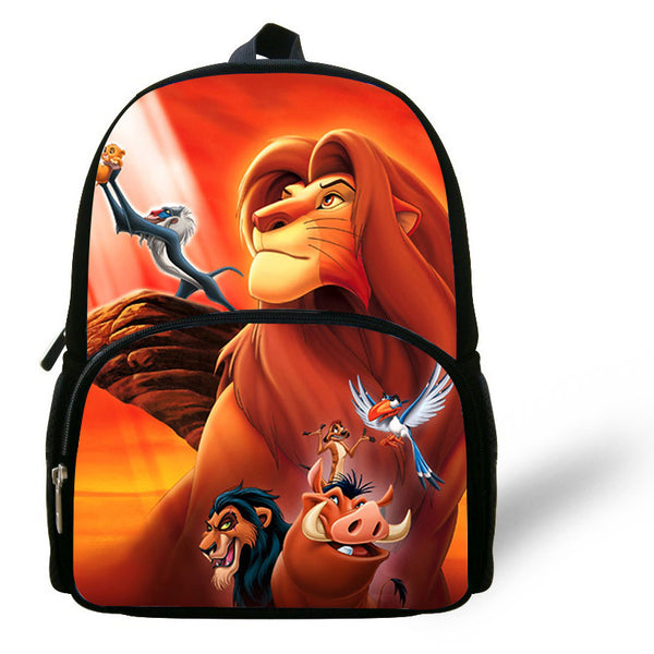 12-inch Mochilas infantis Little Boys Bags Children Backpack The Lion King School Bag Simba Print Cartoon Backpack Kids Girls