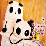 2017 New Fashion Cute Girl Style Panda Schoolbag Backpack Shoulder Book Bag Set  mochila feminina Dropshipping