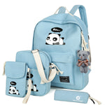 2017 New Fashion Canvas Backpack Schoolbags School For Girl Teenagers Panda Casual Children Travel Bags Rucksack Cute Printing