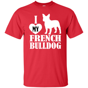 I Love My French Bulldog Unisex T-Shirt