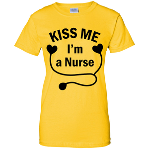 Kiss Me I'm A Nurse Women T-Shirt