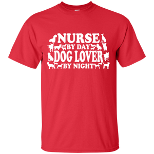 Nurse By Day Dog Lover By Night Unisex T-Shirt
