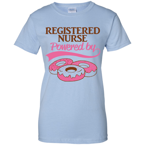 Registered Nurse Powered By Donuts Women T-Shirt