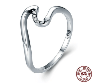 Rings Ocean Wave Ring - 925 Sterling Silver 6 GiveMe-Gifts