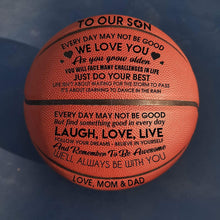 To Our Son I Love You Engraved Basketball