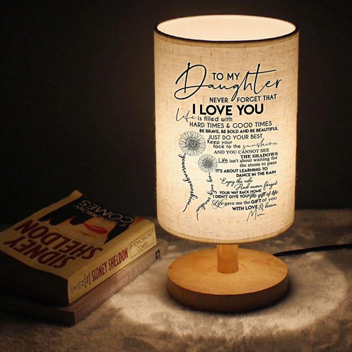 Table Lamp Mom To Daughter - I Love You Just Do Your Best LED Wooden Table Lamp GiveMe-Gifts