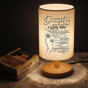 Mom To Daughter - I Love You Just Do Your Best LED Wooden Table Lamp