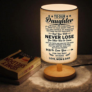 Table Lamp To Our Daughter - You Will Never Lose LED Wooden Table Lamp GiveMe-Gifts