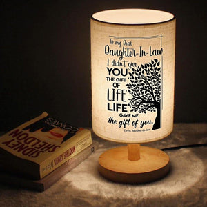 Table Lamp Mom To Daughter-In-Law - The Gift Of Life LED Wooden Table Lamp GiveMe-Gifts