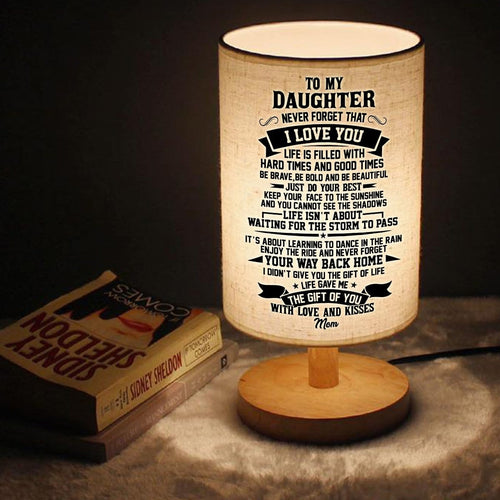 Table Lamp Mom To Daughter - Never Forget That I Love You LED Wooden Table Lamp GiveMe-Gifts