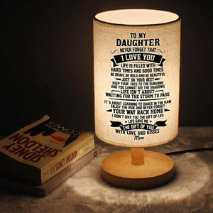 Mom To Daughter - Never Forget That I Love You LED Wooden Table Lamp