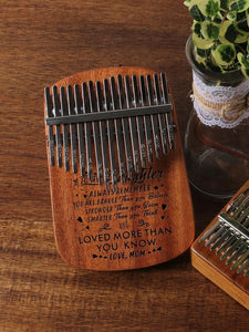 Mom To My Daughter You Are Loved More - 17 Keys Kalimba Thump Piano