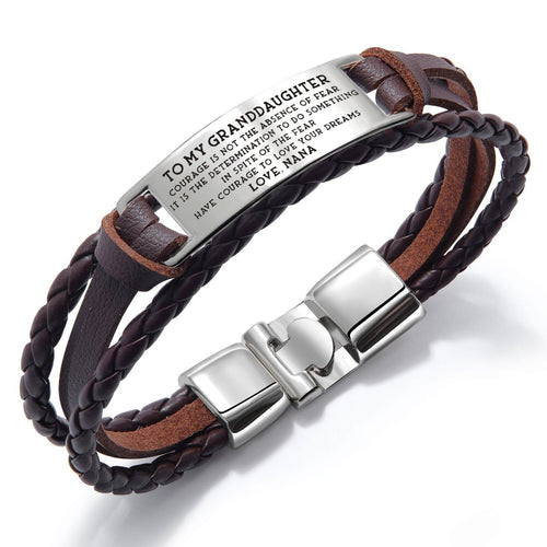 Bracelets Nana To Granddaughter - To Love Your Dreams Leather Bracelet Brown GiveMe-Gifts
