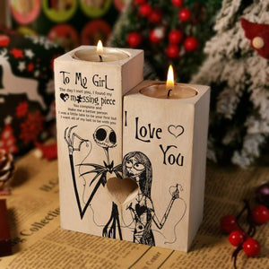 To My Girl - You Complete And Make Me Better Wooden Candle Holders
