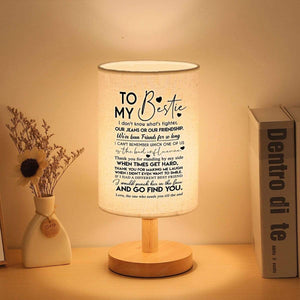 To My Bestie - Thank You For Standing By My Side LED Wooden Table Lamp