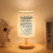 Grandpa To Granddaughter - Never Forget How Much I Love You LED Wooden Table Lamp