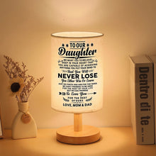 To Our Daughter - You Will Never Lose LED Wooden Table Lamp