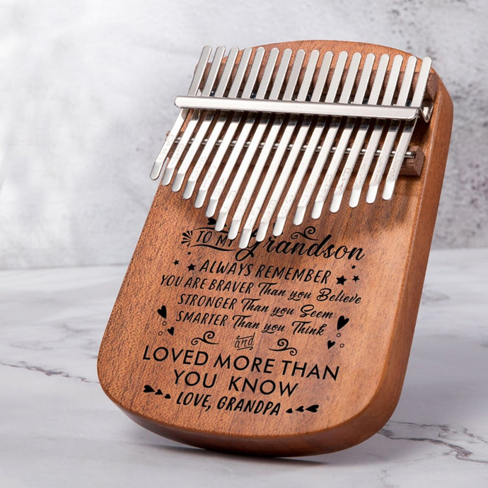 Grandpa To My Grandson You Are Loved More - 17 Keys Kalimba Thump Piano