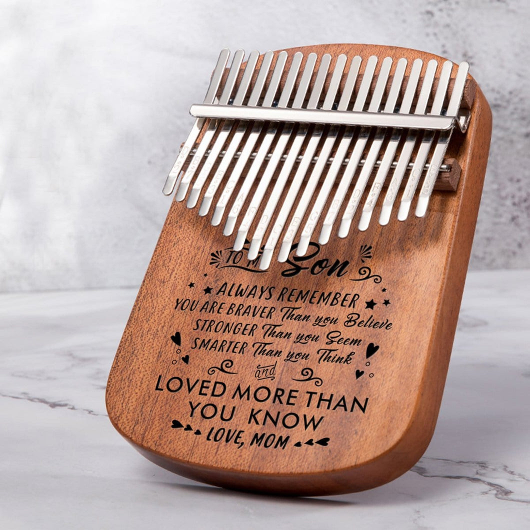 Mom To My Son You Are Loved More - 17 Keys Kalimba Thump Piano