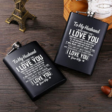 To My Husband I Love You Laser Engraved Hip Flask