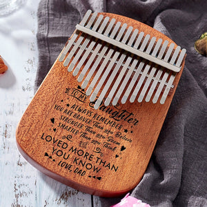 Dad To My Daughter You Are Loved More - 17 Keys Kalimba Thump Piano