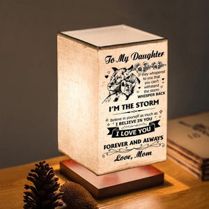 Table Lamp Mom To Daughter - I Love You Forever And Always LED Wood Table Lamp GiveMe-Gifts