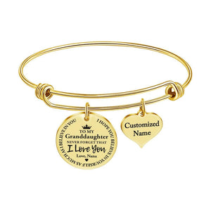 Nana To Granddaughter - I Love You Customized Name Bracelet