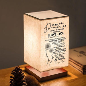 Table Lamp Mom To Daughter - Just Do Your Best LED Wood Table Lamp GiveMe-Gifts