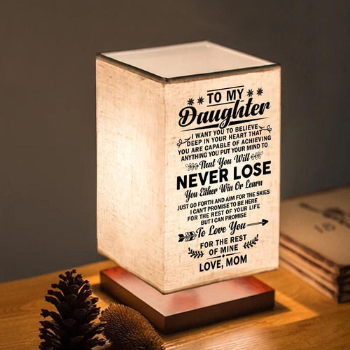 Table Lamp Mom To Daughter - You Will Never Lose LED Wood Table Lamp GiveMe-Gifts