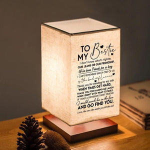 To My Bestie - I Would Go Find You LED Wood Table Lamp