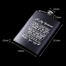 To My Husband I Will Love You Until The End Of Time Laser Engraved Hip Flask
