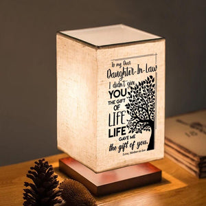 Table Lamp Mom To Daughter In Law - Life Gave Me The Gift Of You LED Wood Table Lamp GiveMe-Gifts