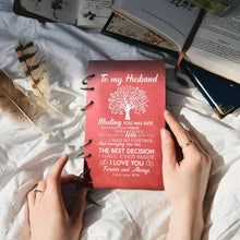 To My Husband - Meeting You was Fate Wood Journal Notebook