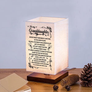 To My Granddaughter - I Love You LED Wood Table Lamp