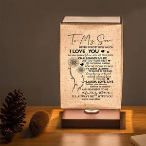 Mom To Son - Laugh Love Live LED Wood Table Lamp
